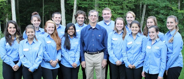 2014-2015 College Ambassadors with Dean Weidemann