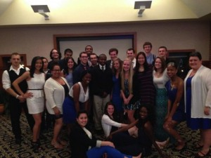 Towers Staff at Spring 2014 RA Banquet