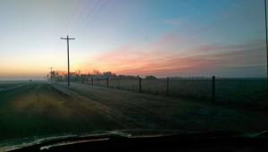 Sunrise at the Pig Farm