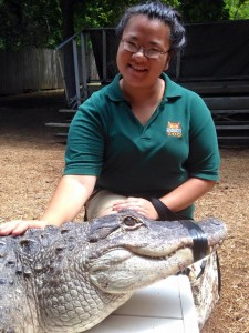 Fred and I after the Crocodiles and Alligators presentation