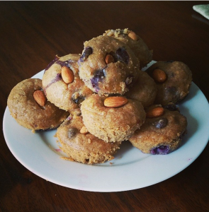 Nut Butter Blueberry Muffins