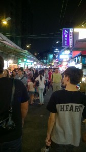 Feng Chia night market located in central Taiwan.