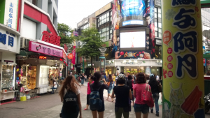 Ximending, one of the most popular shopping areas for students.