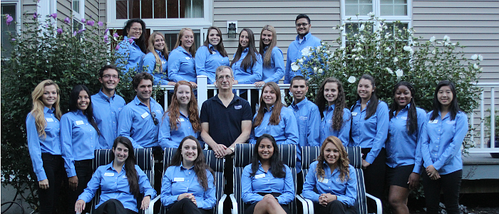 2016-2017 College Ambassadors with Dean Weidemann