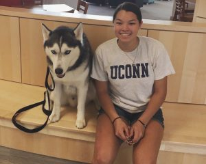 Emily and Husky Dog