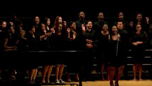 Djion in Voice of Freedom Gospel Choir