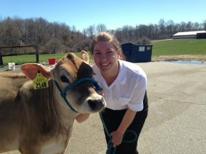Buttercup and Alyssa at the Dairy Show