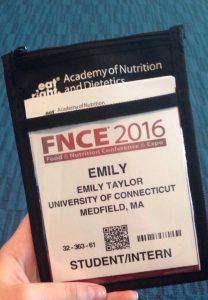 Emily FNCE badge