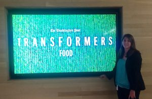 Alyssa attending a seminar on food policy at the Washington Post.