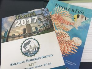 The schedule of events for the annual meeting, along with the August 2017 fisheries magazine