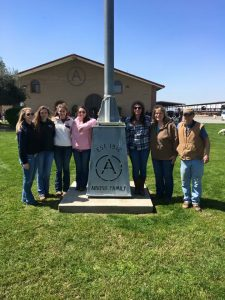 Ambassador Katy and other members of the UConn Dairy Club in Visalia, California for the 2017 National Dairy Challenge competition