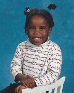 Gisele as a child